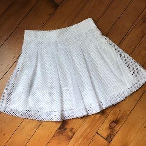 Banana Republic White Skirt net embroidered eyelet